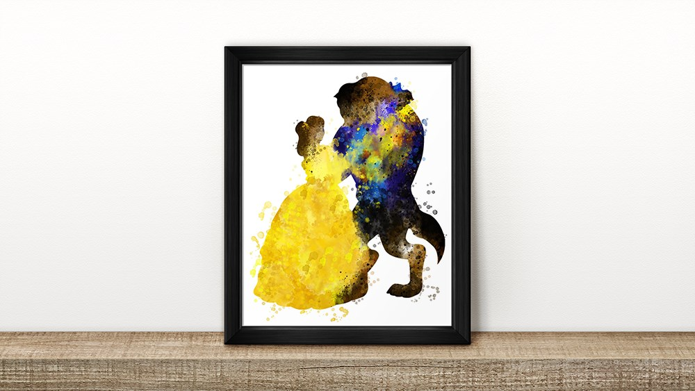 AMAZING DOTD!! Disney Character Inspired Watercolor Art Prints – Only $4.99!!