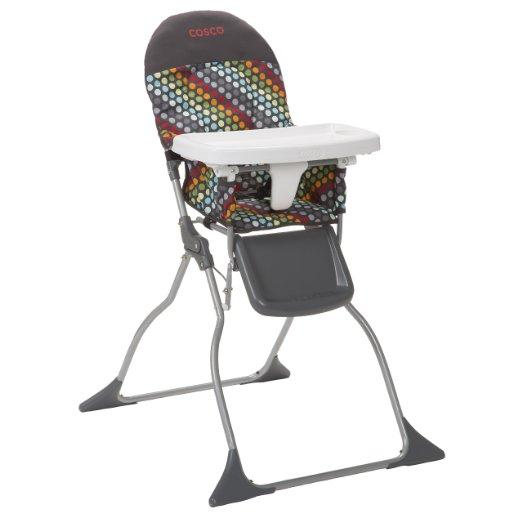 Amazon: Highly Rated Cosco Simple Fold High Chair, Rainbow Dots  Only: $29 (reg $40)