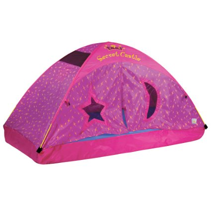 Amazon: A TENT that fits OVER a twin/full bed!! FUN!! – only $35!!
