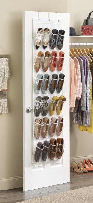 MANY USES! White Crystal Collection Over-The-Door Shoe Organizer – Only $7.29 (regularly $11.99)