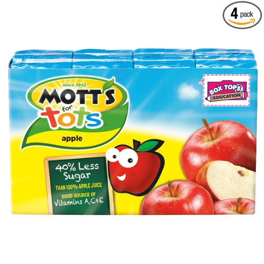 Amazon: Mott's for Tots Apple, 6.75 fl oz boxes (Pack of 32) – Only $9.50