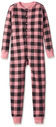 Hatley Girls' Kids Union Suit-Buffalo Plaid Bear Bum – only $8!!