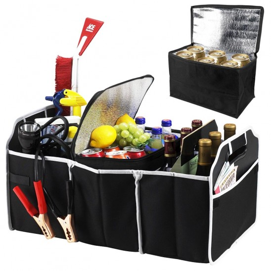 Grab for your next ROAD TRIP – XL Trunk Organizer w/COOLER! Only $12.99 + FREE shipping!!