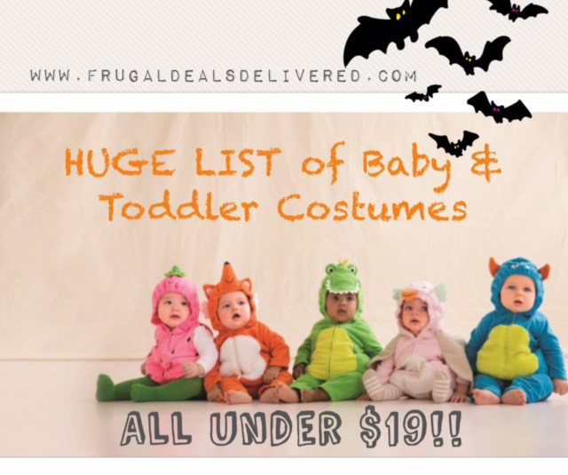 Baby & Toddler Halloween Costumes on a budget — all under $19! Twins options, Star Wars & Disney!