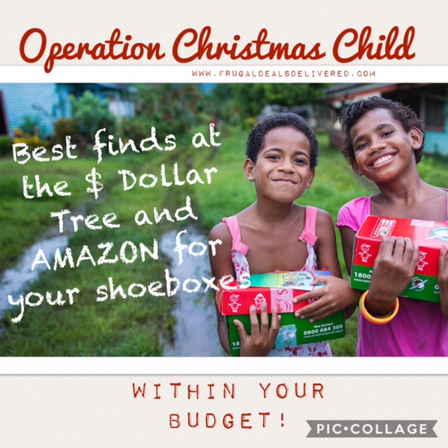 BEST finds at $1 store and Amazon for your OCC Shoeboxes within your budget!
