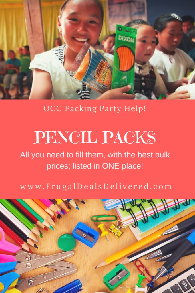 Pencil Packs all you need to bulk order – listed in ONE PLACE!! Operation Christmas Child (OCC)