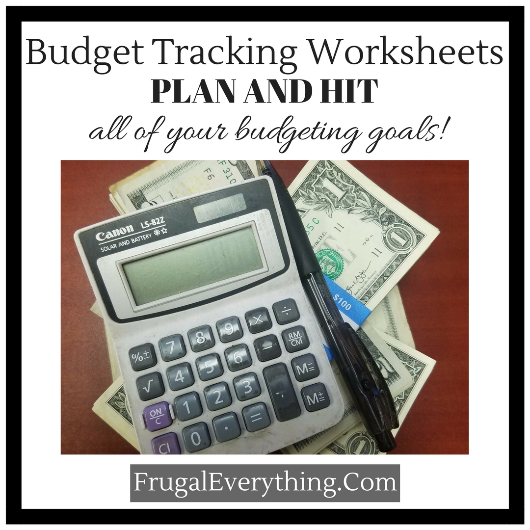 Budget Tracking Worksheets