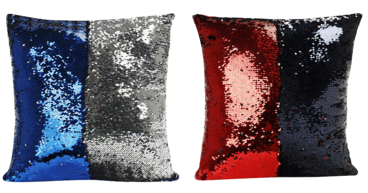 Mermaid Shimmer Sequin Throw Pillows For Just 315 Reg