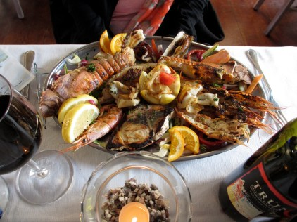 Fresh seafood in the Cinque Terre was amazing (and cheap!)