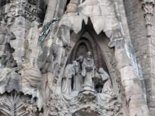 Holy family on the exterior of Sagrada familia