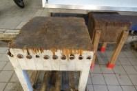 Old Greek butchers block
