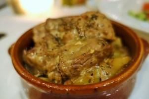 lamb casserole in a brown claypot
