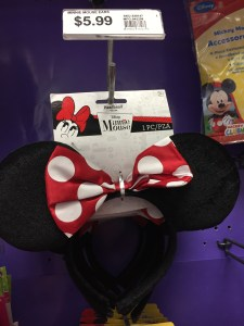 Minnie Mouse headband at Party City - A Frugal Mom's Guide To Disney - 10 Ways To Save At Disney