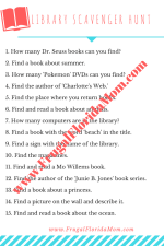 Printable Library Scavenger Hunt - Fun Library Games For Kids - With Free Printables For Easy Summer Learning