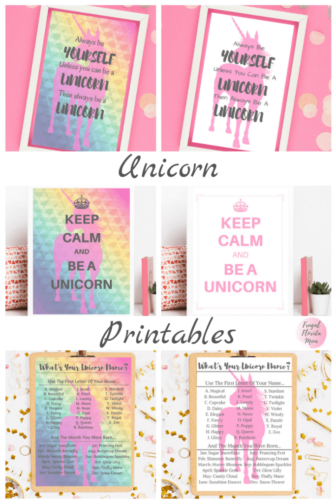 Unicorn Birthday Party Printables Giant Bundle