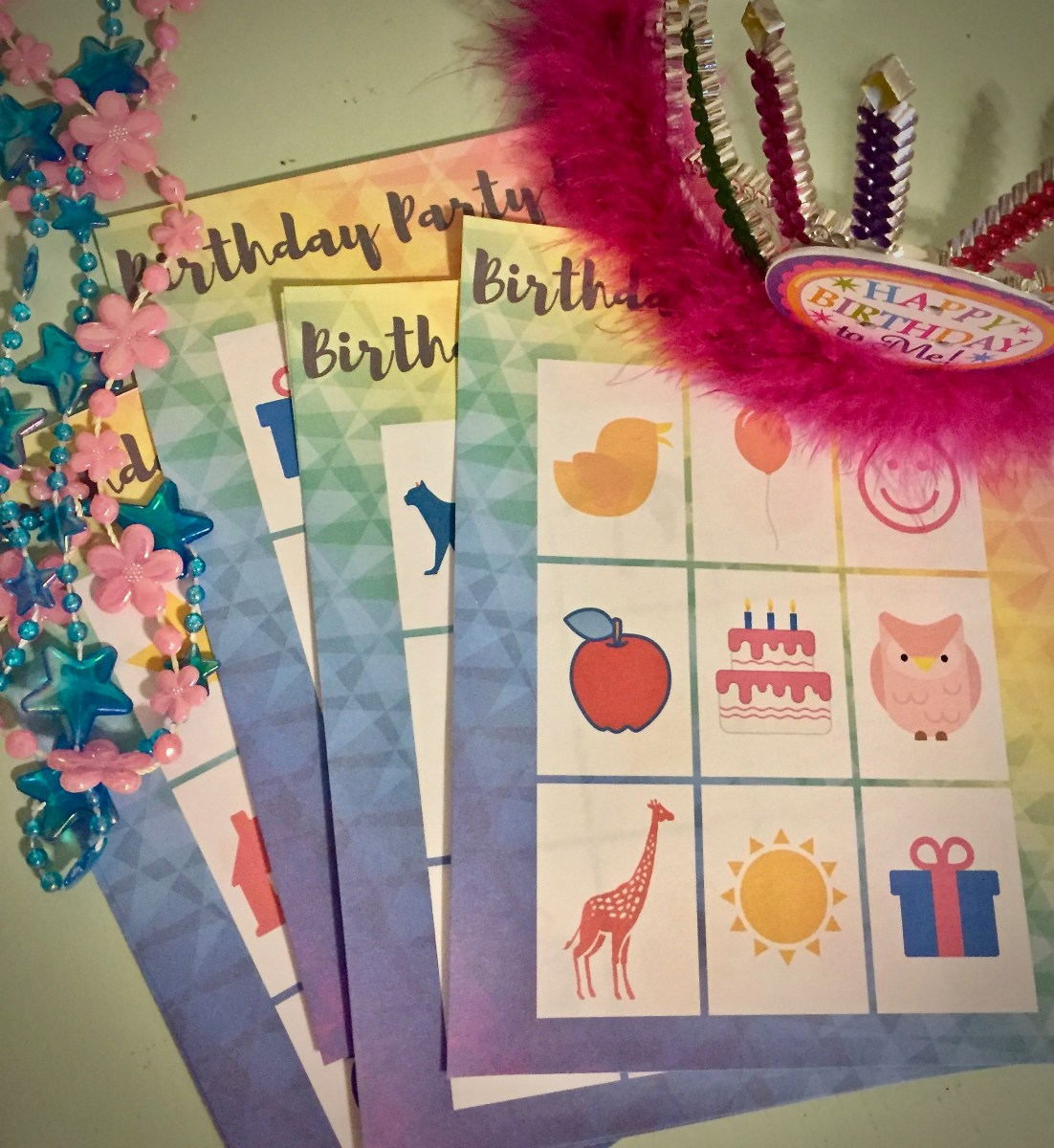 Birthday Party Game Printables - Including Birthday BINGO!