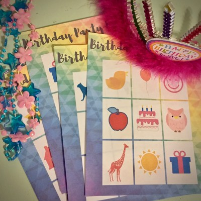 Birthday Party BINGO Printable Set