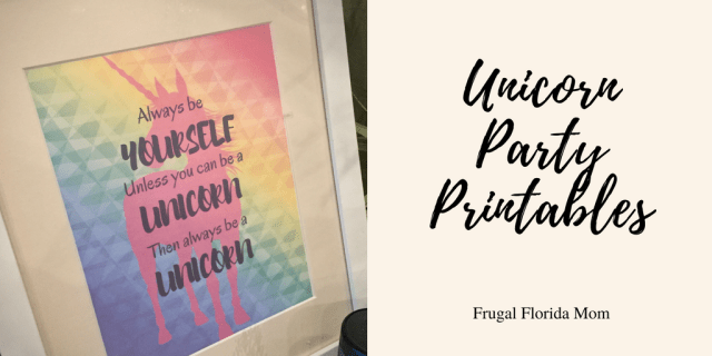 Unicorn Party Free Printables