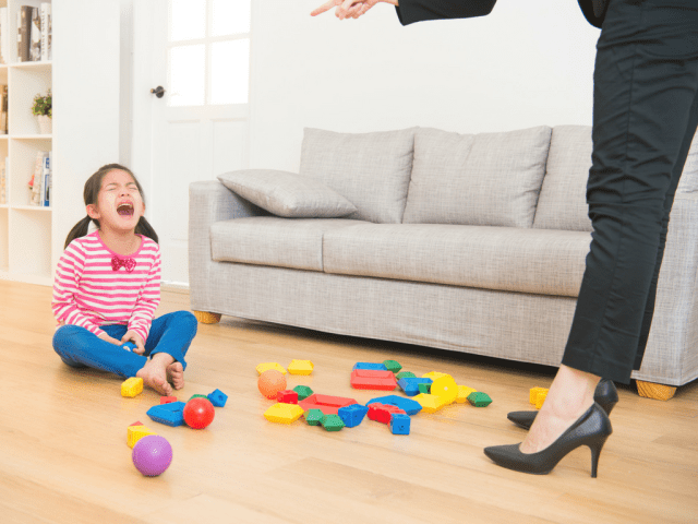 Young girl throwing a tantrum - What Corporate Managers & Stay-At-Home Moms Have In Common