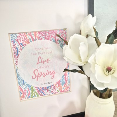 Affordable Ways To Spruce Up Your Home For Spring – With Free Spring Printables