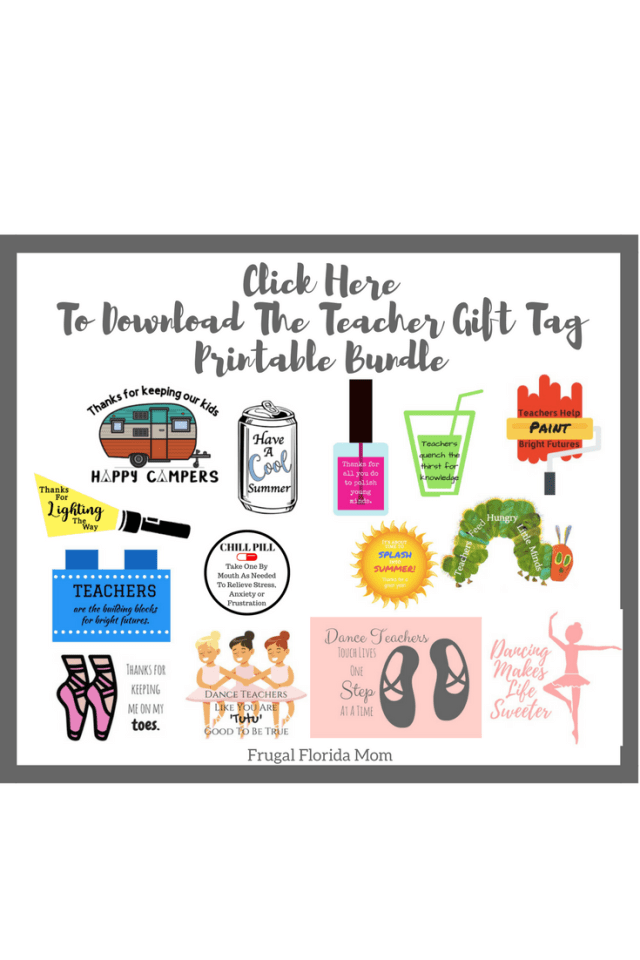 End-Of-Year Teacher Gifts - Super Easy & Affordable Ideas & Huge Gift Tag Printable Bundle