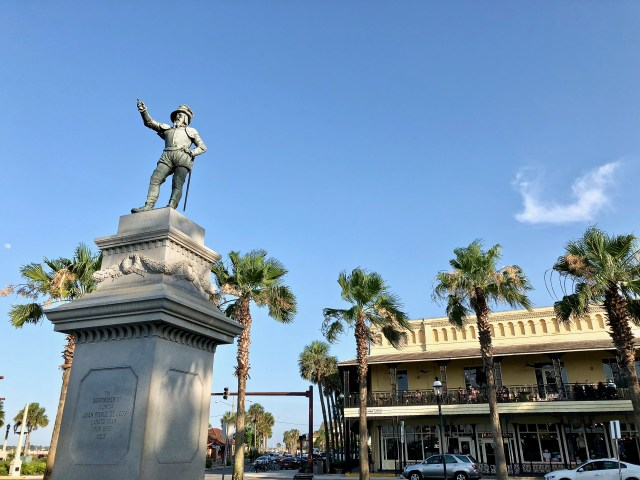 Ponce de Leon statue - Falling In Love With St Augustine