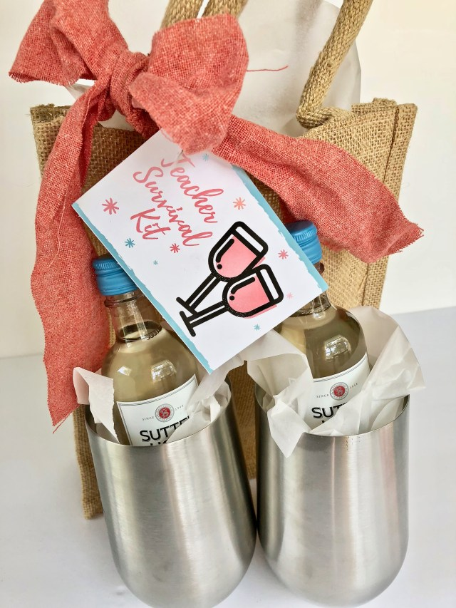 3 Teacher Survival Kits To Start The School Year With Printable Gift Tags
