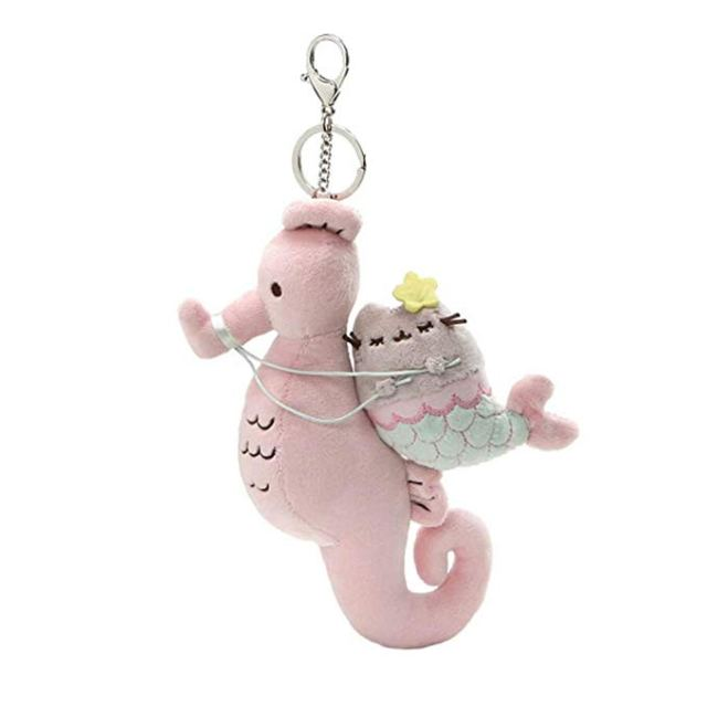 Pusheen and seahorse keychain - Pusheen Gift Guide