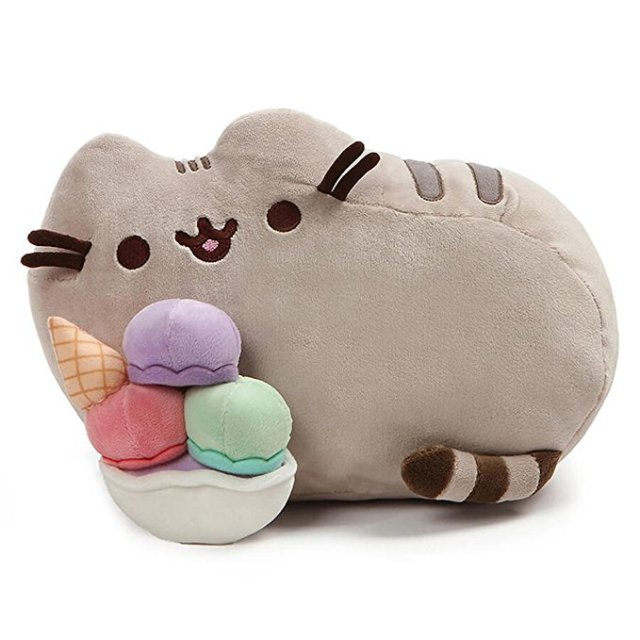 Pusheen plush with both of ice cream - Pusheen Gift Guide