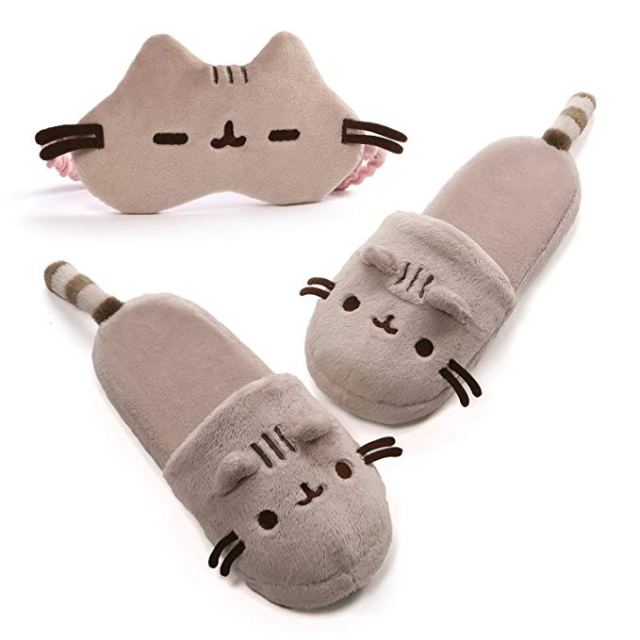 Pusheen slippers and sleep mask - Pusheen Gift Guide