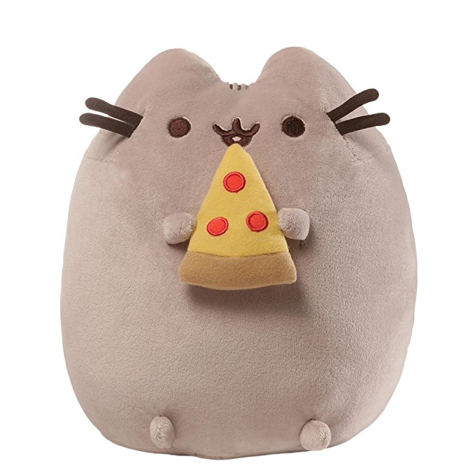 Pusheen plush with pizza - Pusheen Gift Guide