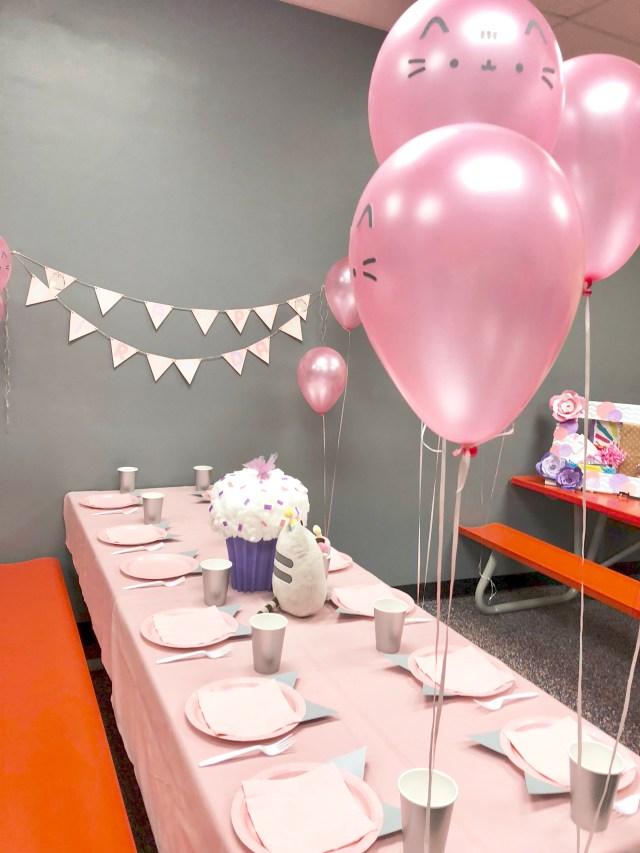 Pretty Pink Pusheen Cupcake Birthday Party Ideas