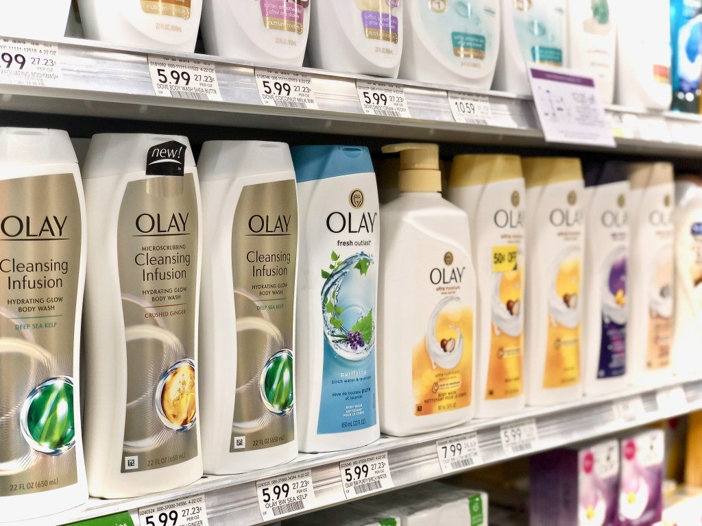 Oil Of Olay products on shelf - Get Easy Cash Back On P&G Products At Publix