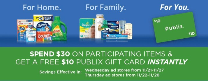 Cash Back With P&G Products At Publix