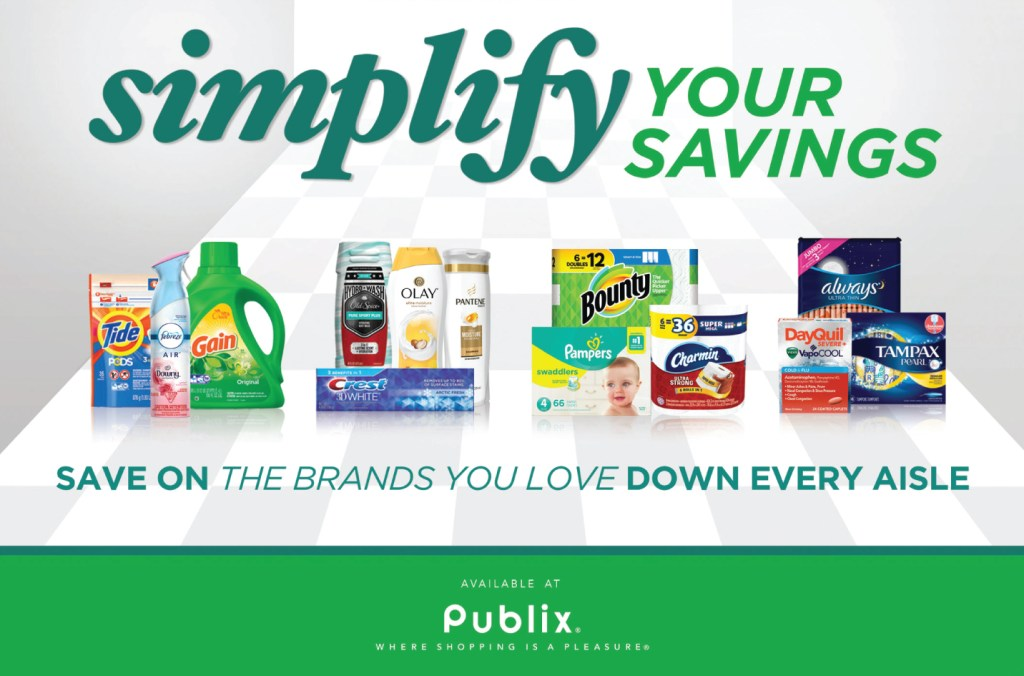 Everyday Savings On P&G Products At Publix