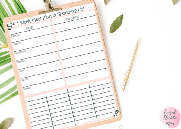 Meal Planning and Shopping List Combo Printable - 20-Page Plan Like A Mother! Printable Bundle