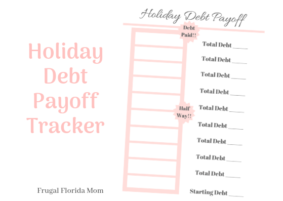 Holiday Debt Payoff Chart Tracker