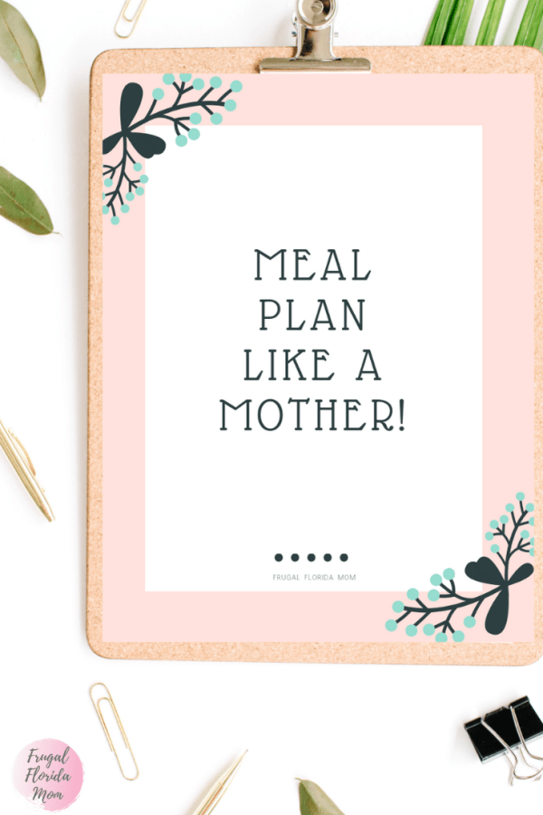 20-Page Plan Like A Mother! Printable Bundle - Frugal Florida Mom