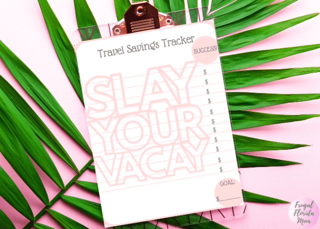 Travel Savings Tracker Color Chart - How To Budget For A Great Travel Experience