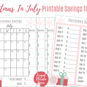 Saving For Christmas In July - With Printable Savings Tracker