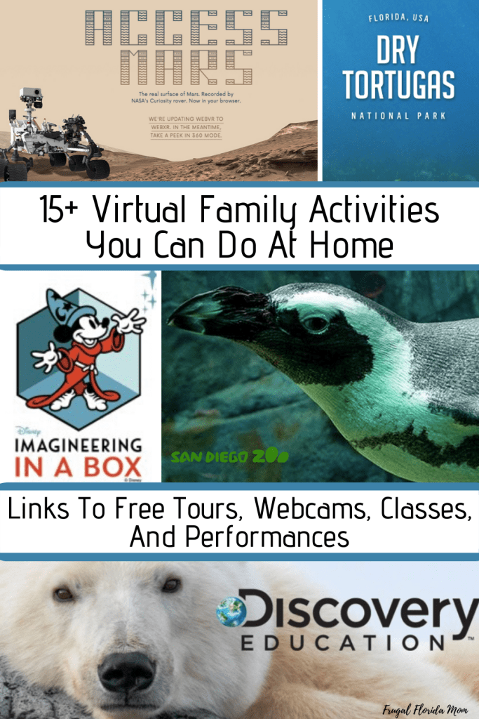 15+ Virtual Family Activities To Do At Home - Links To Free Tours, Webcams, Classes, And Performances