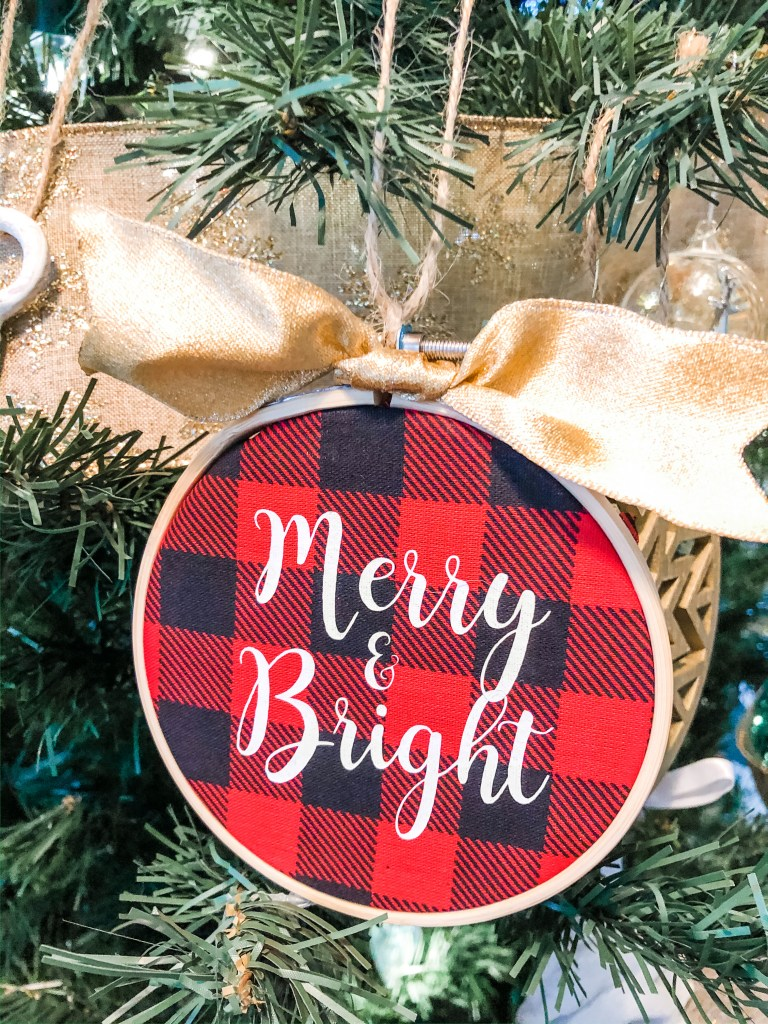 DIY Fabric Christmas Tree Ornaments