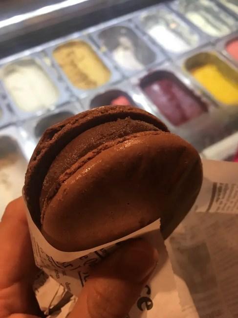 Frozen chocolate macaron EPCOT