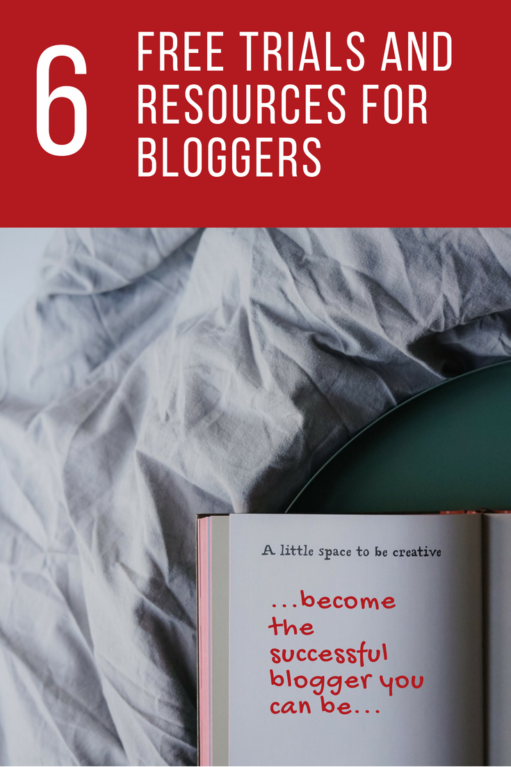 6 Free Trials and Resources For Bloggers #BloggingTips #BloggersHelp #FreeBloggingResources #FreeTrials #BloggingCourse