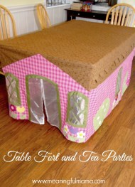 What kid doesn't love a fort? Directions can be found at meaningfulmama.com