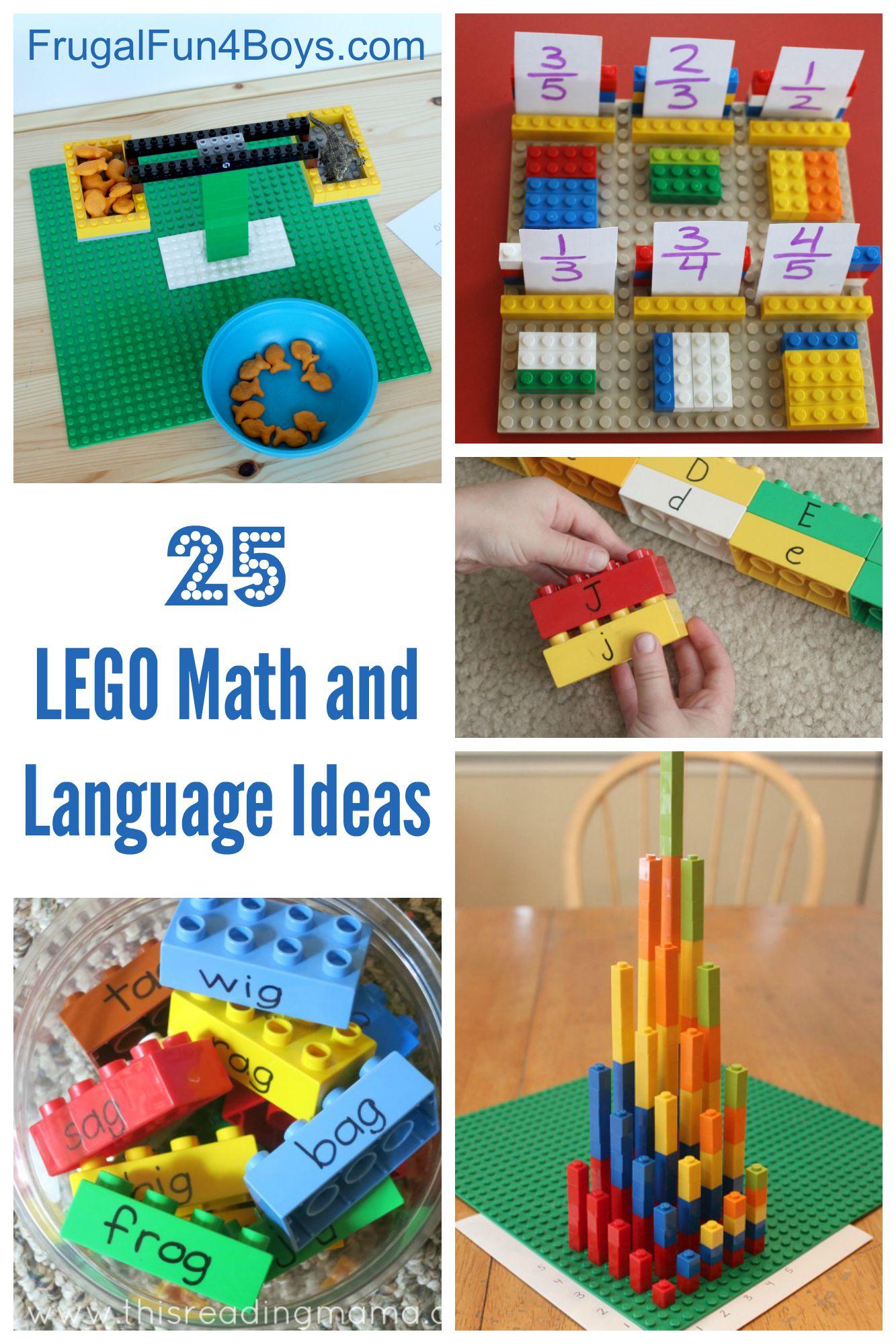 Lego Learning 25 Math And Language Ideas For Preschool