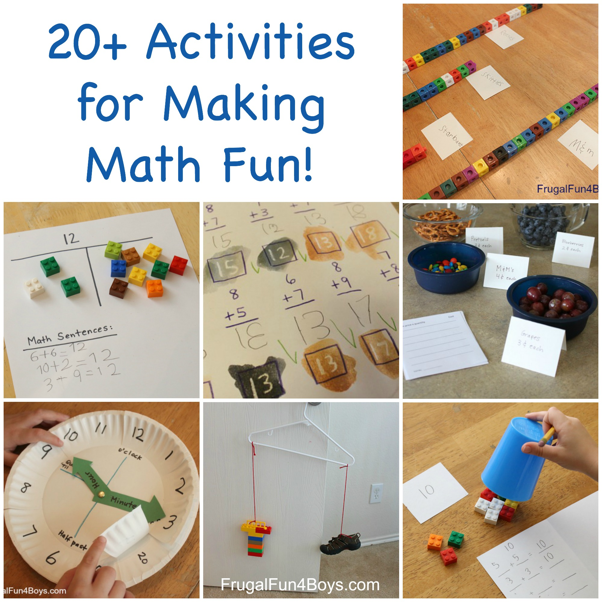 20 Hands On Activities For Making Math Fun