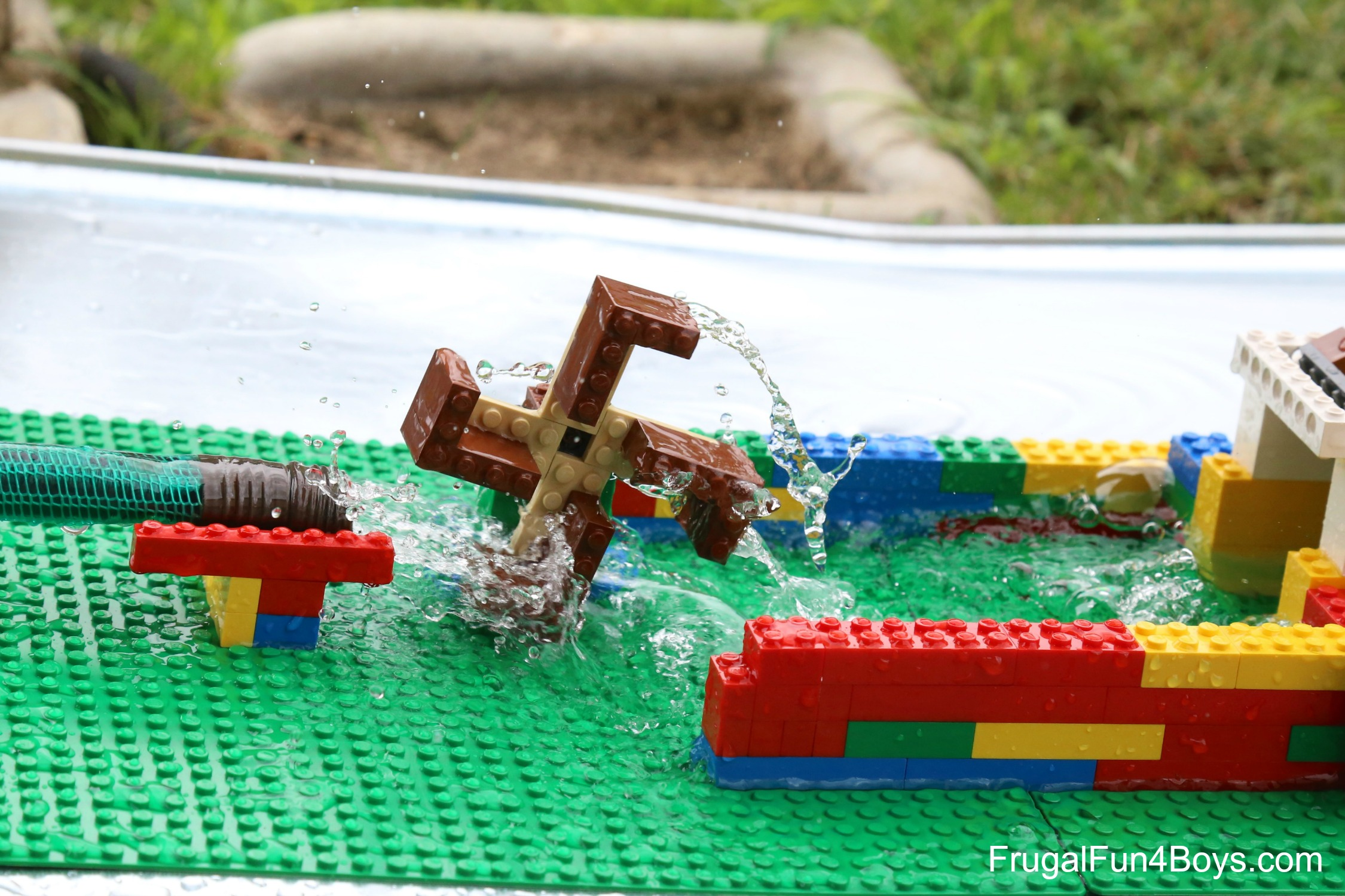 50  Lego Building Projects for Kids     Frugal Fun For Boys and Girls LEGO Water Wheel