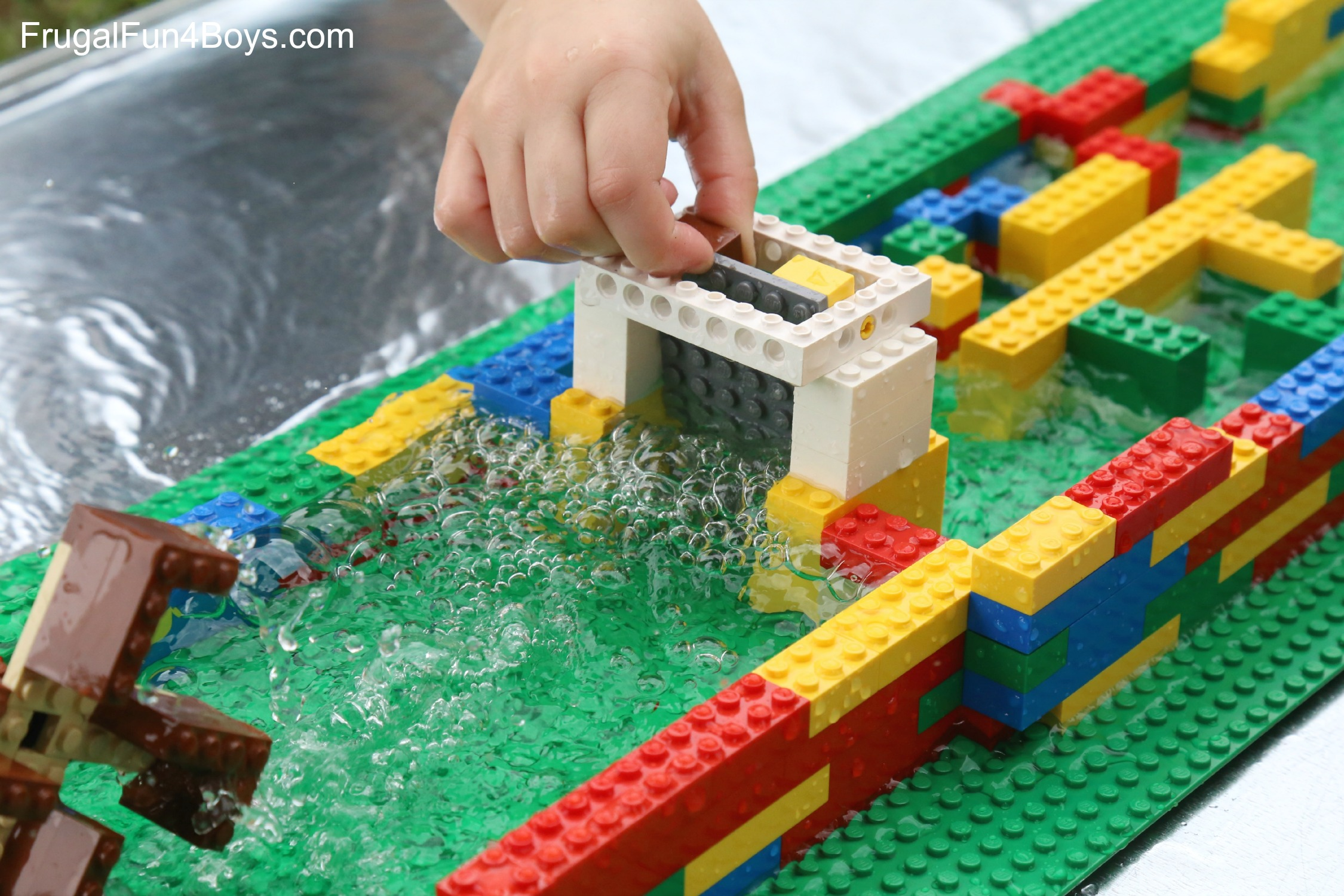 Engineering for Kids  Build a LEGO Water Wheel     Frugal Fun For Boys     Engineering for Kids  Build a LEGO Water Wheel