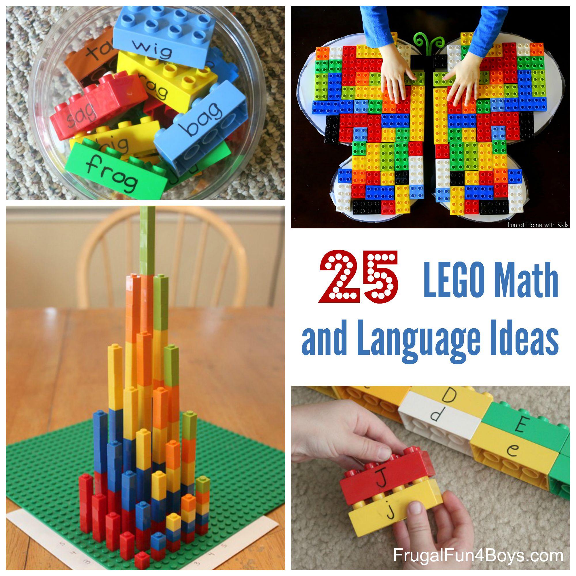 Lego Learning 25 Math And Language Ideas For Preschool Through Third Grade